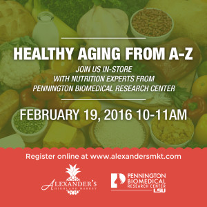 Healthy Aging from A-Z Graphic