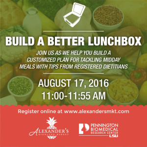 Build a Better Lunchbox Class Graphic
